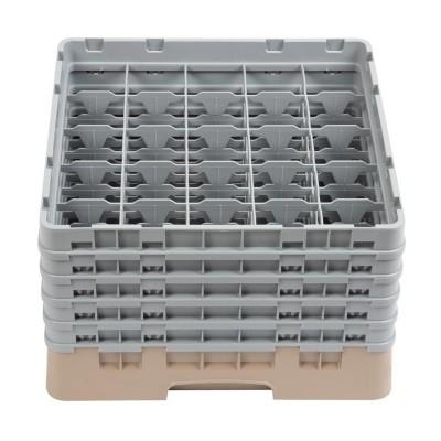 Bandeja cristaleria Cambro Cam de 25 compartimentos beige-Maxima altura de 257mm dw556