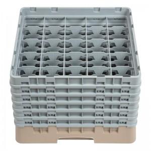 Bandeja cristaleria Cambro Cam de 25 compartimentos beige-Maxima altura 298mm dw557