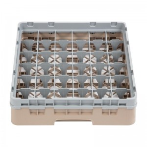 Bandeja cristaleria Cambro Cam de 36 compartimentos beige-Maxima altura de 298mm dw558