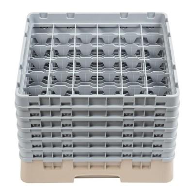 Bandeja cristaleria Cambro Cam de 36 compartimentos beige-Maxima altura de 298mm dw560