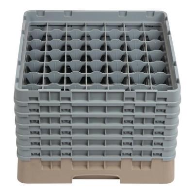 Bandeja cristaleria Cambro Cam de 49 compartimentos beige-Maxima altura de 298mm dw563