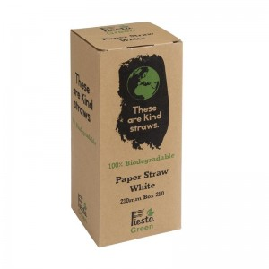 Canutillo de papel Fiesta Green color blanco – 6mm (Caja 250). 250 ud. de925