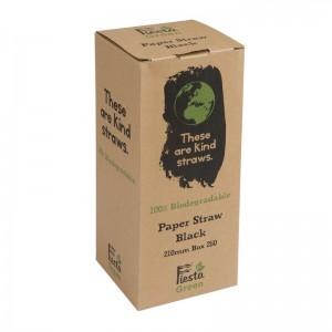 Canutillo de papel Fiesta Green color negro – 6mm (Caja 250). 250 ud. de926