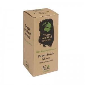 Canutillo de papel Fiesta Green color plata – 6mm (Caja 250). 250 ud. de929