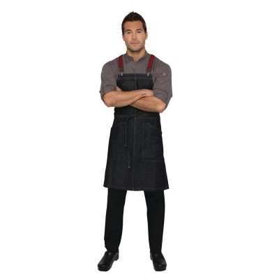 Delantal Chefworks Berkerly vaquero con tirantes Urban azul añil bb206