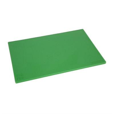 Tabla de cortar Hygiplas de baja densidad antibacteriana verde 450x300x12mm hc858
