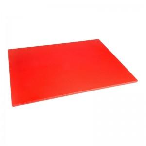Tabla de cortar Hygiplas de baja densidad roja-600x450x10mm hc877