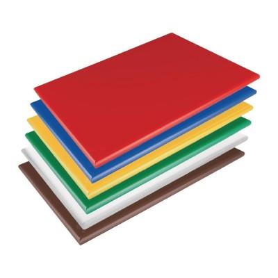 Kit de tablas de cortar Hygiplas de baja densidad-600x450x20mm (Kit de 6) hc880