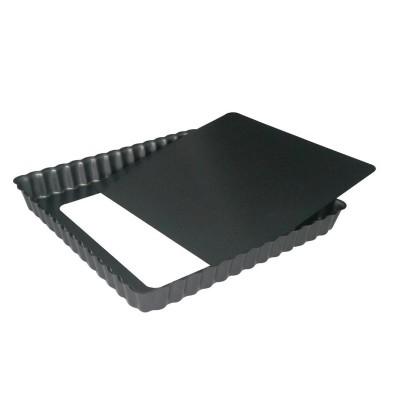 Molde cuadrado antiadherente Debuyer base desmontable-18cm cy118