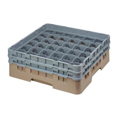 Cesta cristaleria Cambro Camrack beige 36 compartimentos vasos hasta 133(Al)mm de794