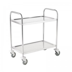Carro de acero inox 2 estantes 810 x 455 x 855mm Vogue f997