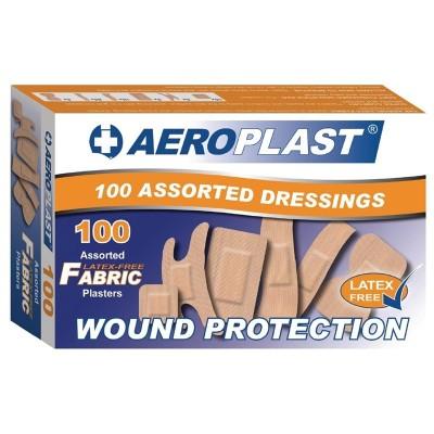 Tiritas surtidas Aeroplast sin latex. 100 ud. cg295