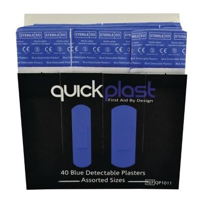 Cartucho tiritas azules Quickplast. 40 ud. cm529