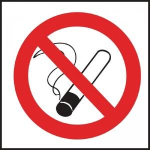 Cartel Prohibido fumar l964