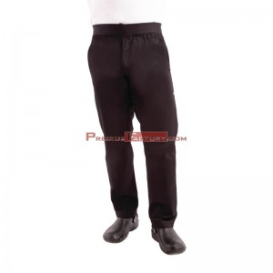 Pantalon Chefworks ligero estrecho negro Talla S bb301-s