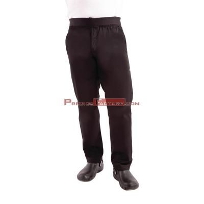 Pantalon Chefworks ligero estrecho negro Talla XS bb301-xs