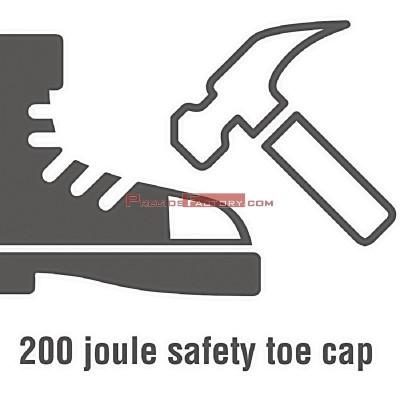 Zapato de seguridad unisex negro Slipbuster Talla 49 a793-49