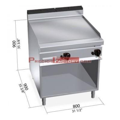 Fry Top Berto´s MAXIMA serie GAS 900 x 800 cromo duro