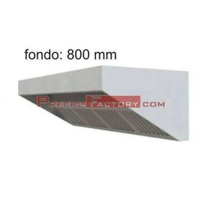 Campana extracción baja. Fondo 800 mm
