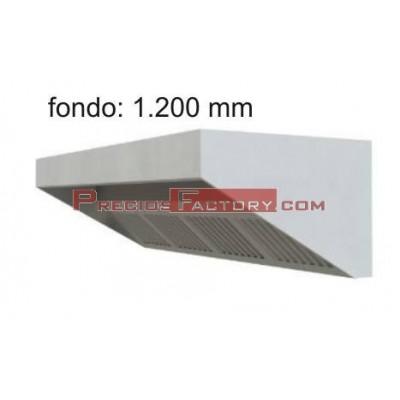 Campana extracción baja. Fondo 1.200 mm