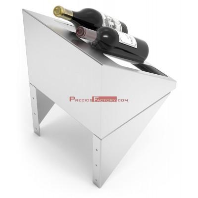 Botellero expositor inox de sobremesa para botellas de vino 45º