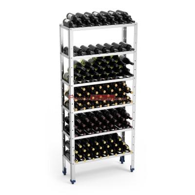 Estantería inox para almacenaje de vino