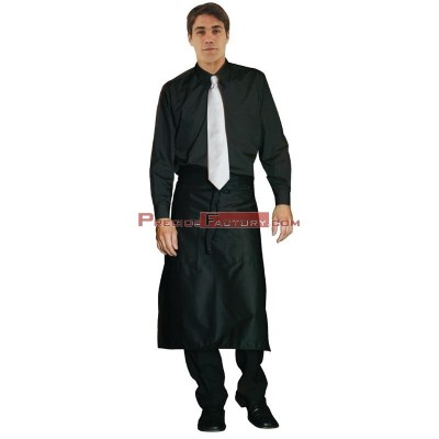 Camisa unisex manga larga negra Uniform Works a798