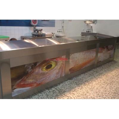 Vitrina pescadería 3 metros. Frío en reserva
