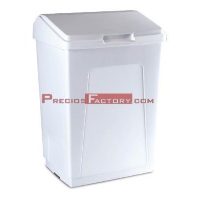 Contenedor de plástico con tapa 55 litros