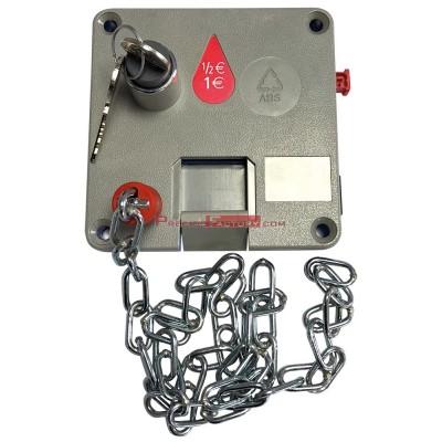 Cerradura con cadena para consigna de carros