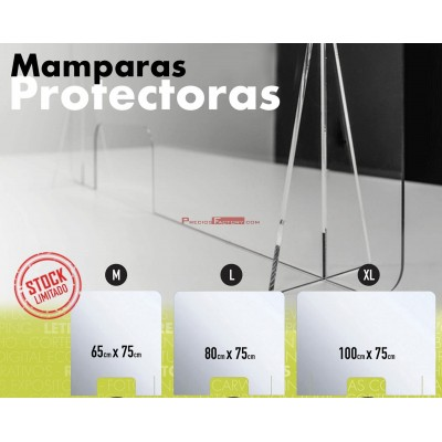 Mampara protectora metacrilato espesor 4 mm