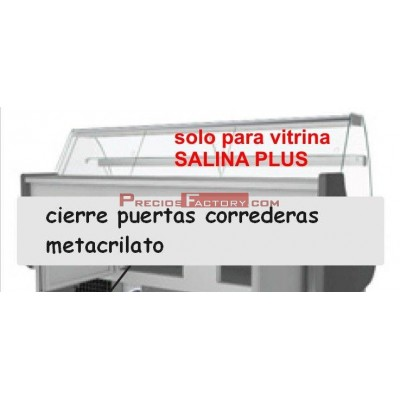 Puertas plexiglass Vitrinas SALINA PLUS Eurofred cristal curvo