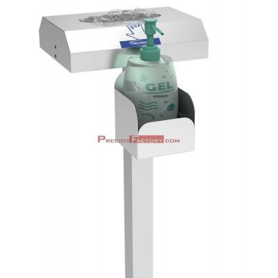 Columna mixta para guantes y botella de gel hidroalcohólico