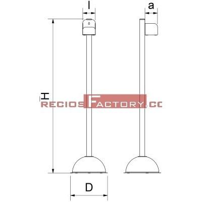 Columna para botella de gel hidroalcohólico