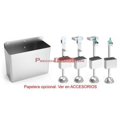 Papelera para acoplada a columnas y soportes de gel hidroalcohólico