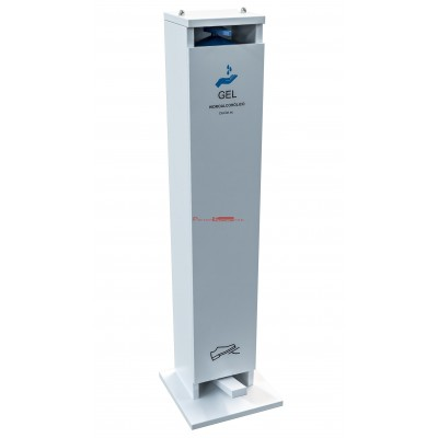 Dispensador de gel hidroalcohólico melamina. Accionamiento mediante pedal