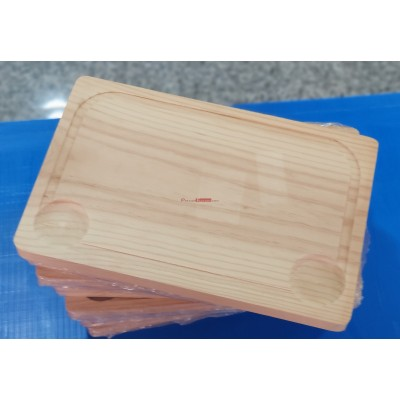 9 tablas churrasco 300x190x25 mm.