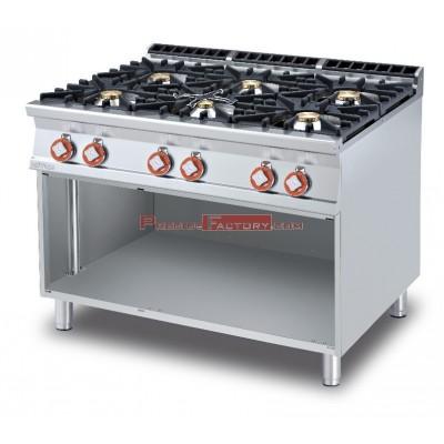 Cocina LOTUS GAS 6 fuegos gama 90. Con mueble