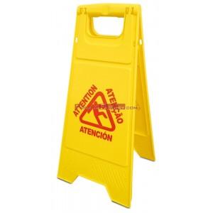 Señal de aviso de suelo mojado