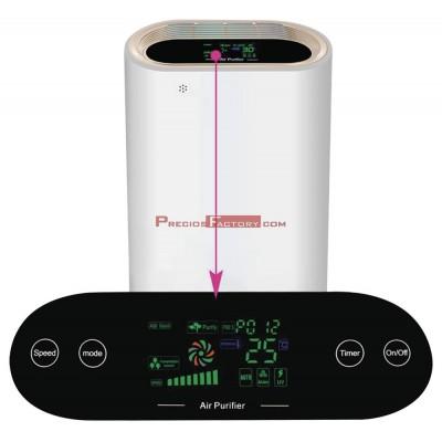 Purificador de aire con filtro HEPA y lámpara UV hasta 60 m2