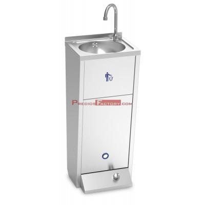 Lavamanos registrable c/pedestal un pulsador serie XS agua fría y caliente