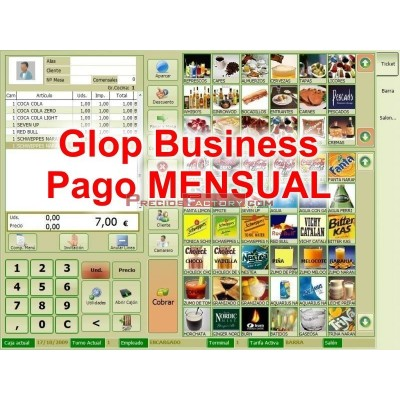 SOFTWARE TPV GLOP Business. Pago mensual