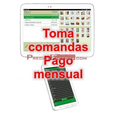 MODULO GLOP ANDROID TOMA DE COMANDAS. Pago mensual