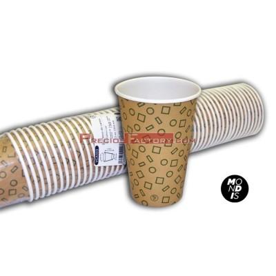 Vasos de cartón 12 oz para bebidas frías y calientes. 1.000 ud