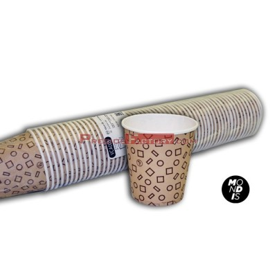 Vasos de cartón 6.5 oz - 192 ml para bebidas frías y calientes. Caja con 20 paquetes de 50 vasos.