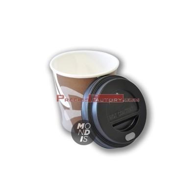 Tapa color negro para vaso cartón 4 oz. 1.000 UD