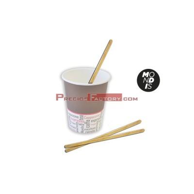 Paletina de madera para bebidas de 14 cm. Paquetes de 1000 unidades.