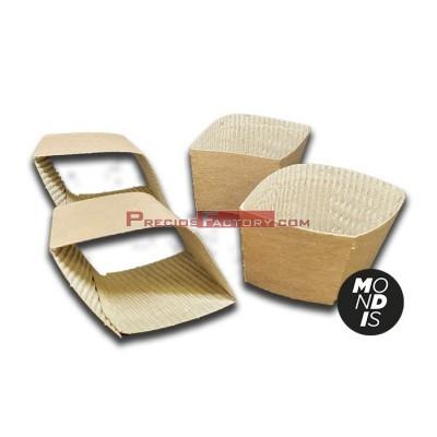 Faja protectora del calor para vasos de cartón de 192 ml (6.5 oz) y 236 ml. ( 8oz). Caja de 1000 unidades