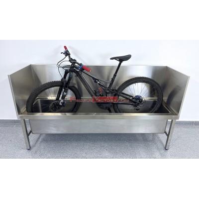 Fregadero inoxidable especial lavado de bicicletas