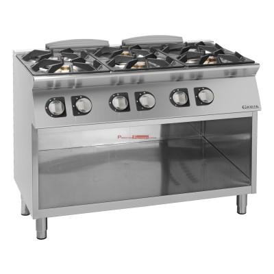 Cocina gas 6 fuegos Unika 700 G
